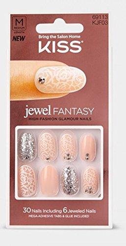 Amazon.com: Kiss Jewel Fantasy Nails ~ Baroness: Beauty