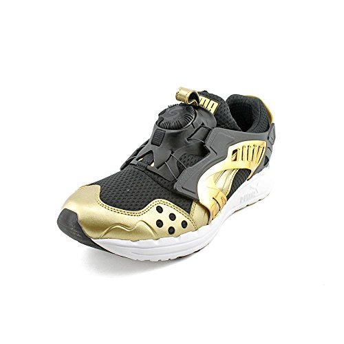 PUMA Men's Future Disc Lite Tech'D Out Athletic Sneaker, Black/Team Gold, 11 D(M) US - Puma All Black Sneakers