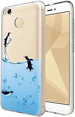 Eouine Funda Xiaomi Redmi 4X, Cárcasa Ultra Slim Silicona 3D ...