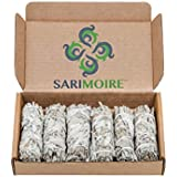 "White Sage Smudge Sticks - 6 - 4"" Sage Bundles - Perfect Sage Stick Smudge Sticks Smudging Kit Replenishment"