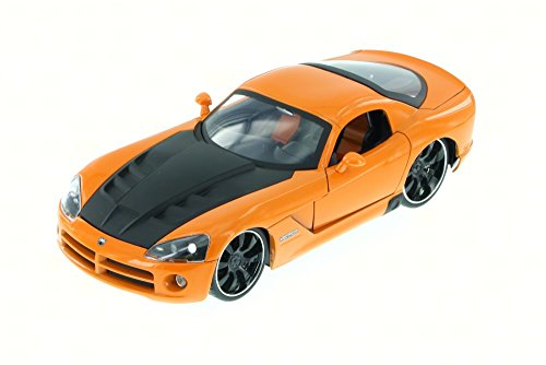 2008 Dodge Viper SRT10, Orange - JADA 91804XN - 1/24 Scale Diecast Model Toy Car, but NO Box