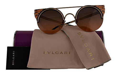Bvlgari Authentic Sunglasses BV6088 Orange Pale Gold w/Orange Grey Gradient Lens 202218 BV 6088 (54mm)