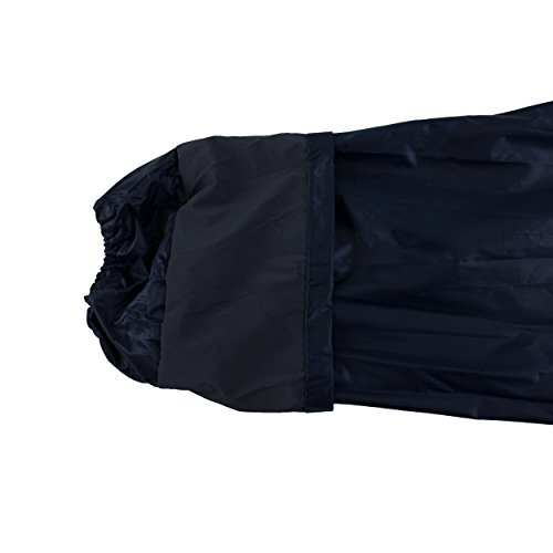 RK Safety RC-PP-NVY44 Navy PVC Polyester Trench Rain Long Coat With Hoodie(Navy, 2XL) by RK Safety (Image #4)