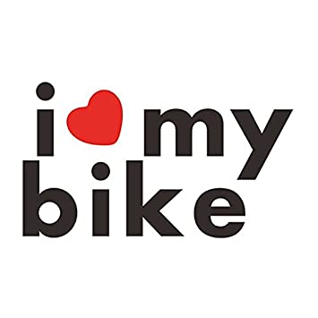 Delhitraderss I LOVE MY BIKE Bike Graphic Stickers Size Amazon - Bike graphics stickers images