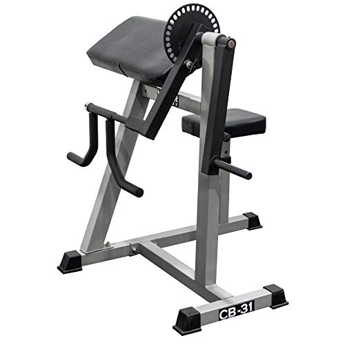 Valor Fitness CB-31 Plate Loaded Arm Curl and Triceps Machine (Curl Press Bench Preacher)