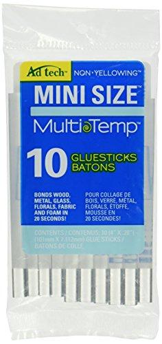 "Ad Tech Multi Temp Mini Glue Sticks-4x.28"" 10/Pkg."