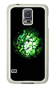 Samsung Galaxy S5 crazy cover Cool Green Light 3D PC White Custom Samsung Galaxy S5 Case Cover
