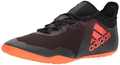 Image of the adidas Performance Men's X Tango 17.3 In Soccer-Shoes, Black/Solar Red/Solar Orange, 9 Medium US
