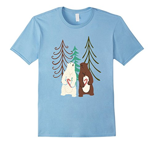 Mens Wood Elf Costume (Mens Cute Christmas Bears Wood Sweet Candy Costume T-Shirt 3XL Baby Blue)