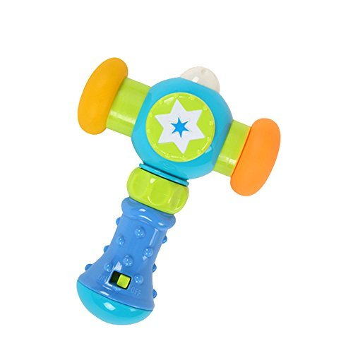 Goolsky GOODWAY G104 Soft Knocking Hammer with Sound and Light Baby Toys Toddler Play Hammer Improve Baby's Operation Ability by Goolsky