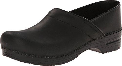 Dansko Men's Professional Oiled Leather Men's Black Oiled Clog/Mule 44 (US Men's 10.5-11) Narrow 206-020202