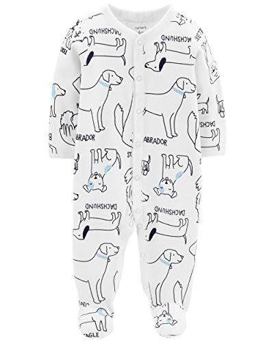 Carter's Baby Boys' Snap-Up Thermal Sleep & Play Dog Print (3 Months)