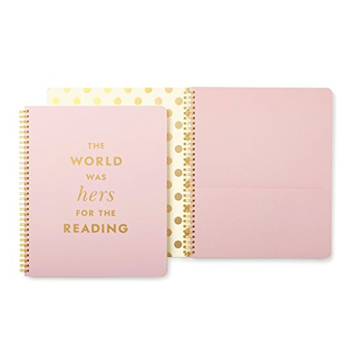 Kate Spade Large Spiral Notebook, Quote, Pink (174649) by Kate Spade New York