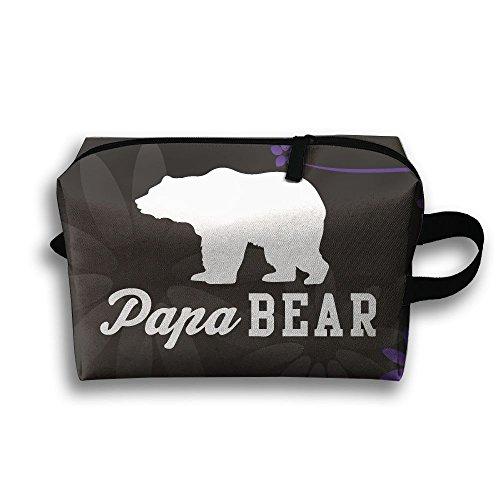 Papa California Bear Clip-art Zipper Cosmetic Bag Travel Cases Makeup (Bears Clipart)
