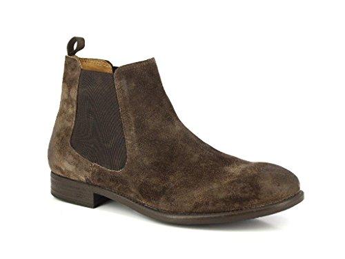 Alberto Torresi Heren Suede Causale Laarzen- Geniune Suède Klassiek Bruin Ankel Boots Donkerbruin