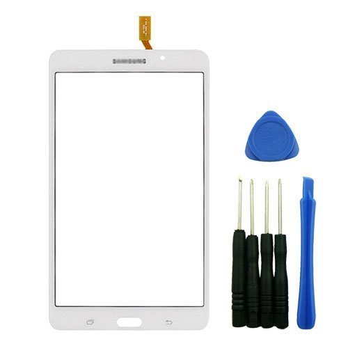 PhonePlus® White Outer Glass Digitizer Touch Screen Panel Replacement for Samsung Galaxy Tab 4 7.0 T230 Wifi Version with Tools