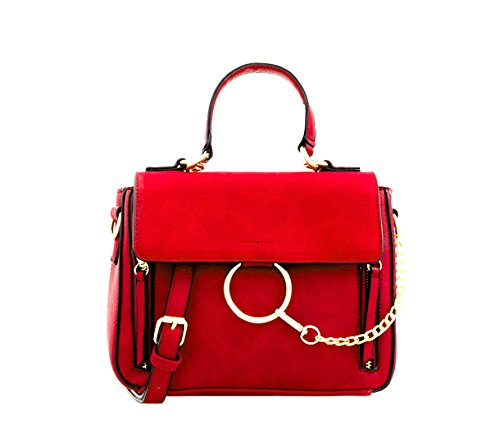 Women's Messenger Bags LeahWard Leather Red Faux Body Cross Bags Holiday SdxgwC7q
