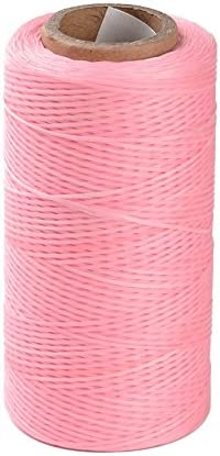 260m//roll Flat Waxed Polyester Cords Sewing String Jewelry Craft Threads 1x0.3mm