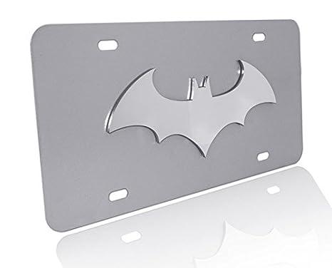 BATMAN LOGO Stainless Steel License Plate Frame Rust Free W// Bolt Caps