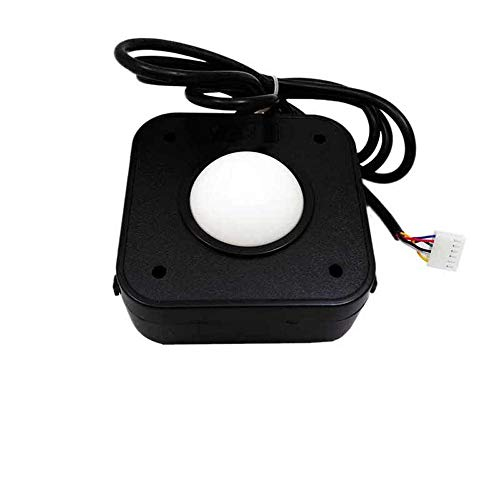 1 Arcade 60 - Atomic Market 2.25 Inch White Ball Arcade Game Trackball Compatible with Jamma 60-in-1 Jamma Icade PCB Board