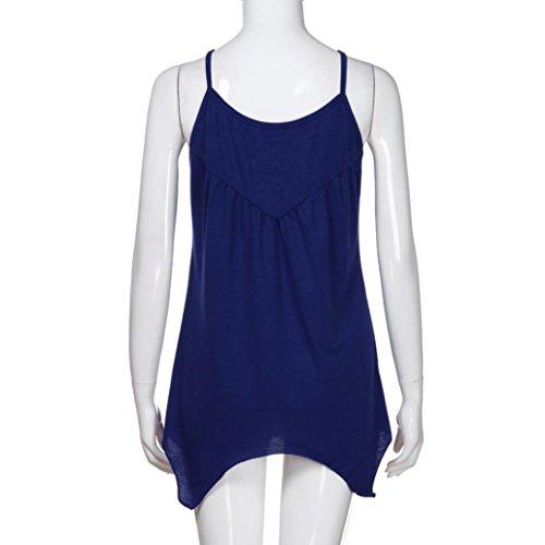 SANFASHION Multicolor SANFASHION Algodón Bekleidung Para Shirt155 Bailarinas Multicolor Azul de Damen Mujer rFrqwS