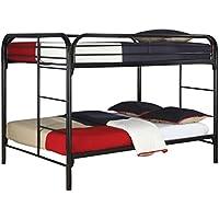 Coaster Fine Furniture 460056k Full Over Full Bunk Bed, Metal Black