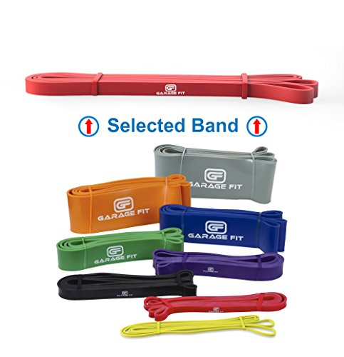 Assisted Pull-Up Bands, Resistance Band (Single unit) Pull-Up Assist Bands, Resistance Bands Heavy, Elastic Bands Gym, Training Bands #1 Red (XS) 15-25 (Additional Latex Free Bands)