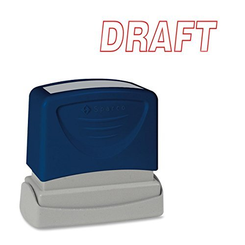 SPR60017 - Sparco Draft Red Title Stamp