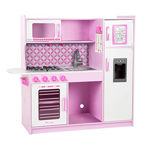 Melissa & Doug Chef's Kitchen, Pretend Play Set, Cupcake (Easy to Assemble, Durable Wooden Construction, Multiple Working Parts, 39