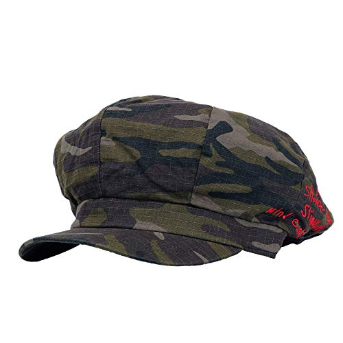 - WITHMOONS Summber Newboy Hat Camouflage Military Pattern Beret Cap Bakerboy Visor Hat TR3941 (Green)