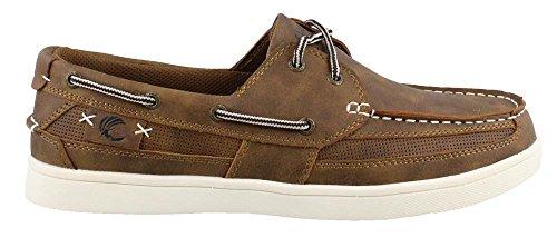 Island Surf Men's Company, Newport Boat Shoes Wide Width Lt Brown 11.5 - Newport Island Fashion