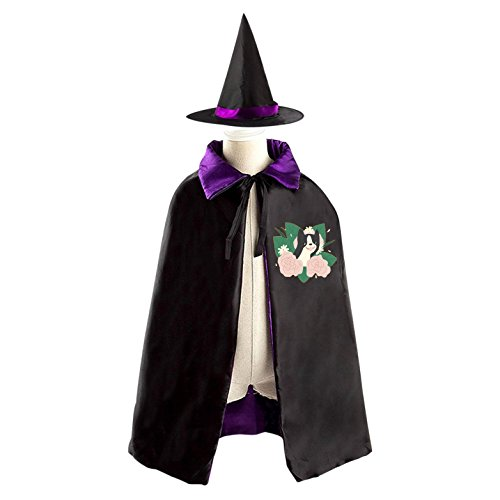 Flower Dog Children Wizard Cape and Hat Costume Reversible Halloween Party - Flower Child Costume Rave