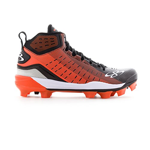 Boombah Mens Catalyst Molded Mid Cleats - 8 Color Options - Multiple Sizes Black/Orange SYJE7
