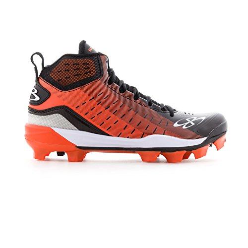 sports shoes bb4c1 f2595 Boombah Men s Catalyst Molded Mid Cleats Black Orange - Size 6 (Misc.)