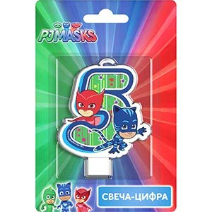 Сandle on a Cake Topper 5 Years Owlette Catboy Must Have Accessories for the Party Supplies and Birthday Rosman