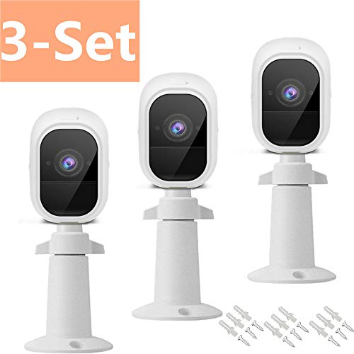 Arlo Mount,Arlo pro 2 Skins,Taken Wall Mount & Silicone Skins Case,Outdoor/Indoor Mount and Skins Cover for Arlo pro & Arlo pro 2 Smart Security Wire-Free Cameras, 3 Set (White)