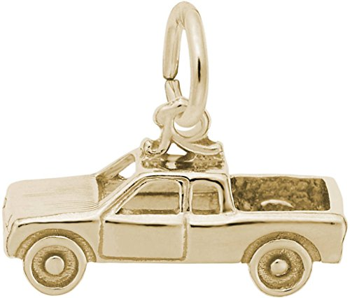 Rembrandt Pickup Truck Charm - Metal - Gold-Plated Sterling - Charm Truck Gold Plated