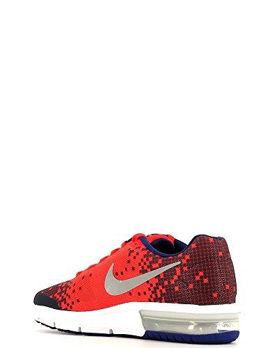 Nike Air Max Sequent Print (Gs), Zapatillas de Running para Niños Naranja / Plateado (Lt Crmsn / Rflct Slvr-Obsdn-Dp R)