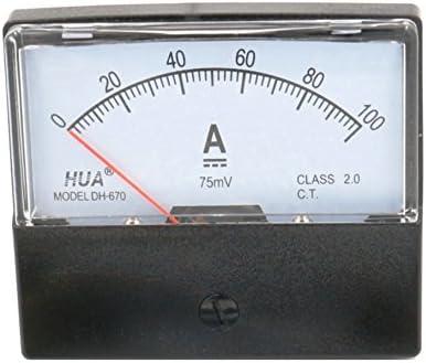 DH-670 DC 100A Panel Amperemeter Amperemeter mit 75mV Shunt