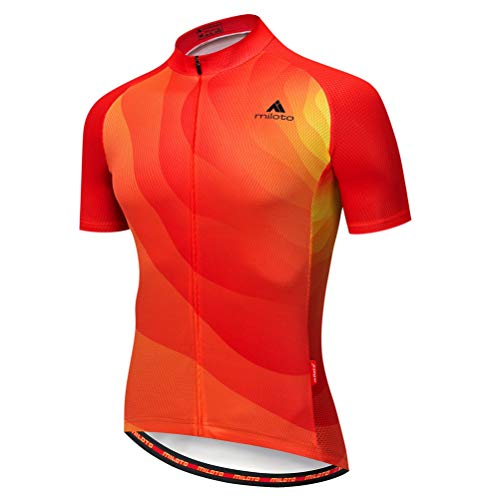 Uriah Men's Cycling Jersey Short Sleeve Reflective Orange Red Size XL(CN) (Jersey Red Cycling Team)