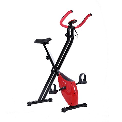 Confidence Fitness Folding Exercise Bike Stationary Upright X Bicycle Red
