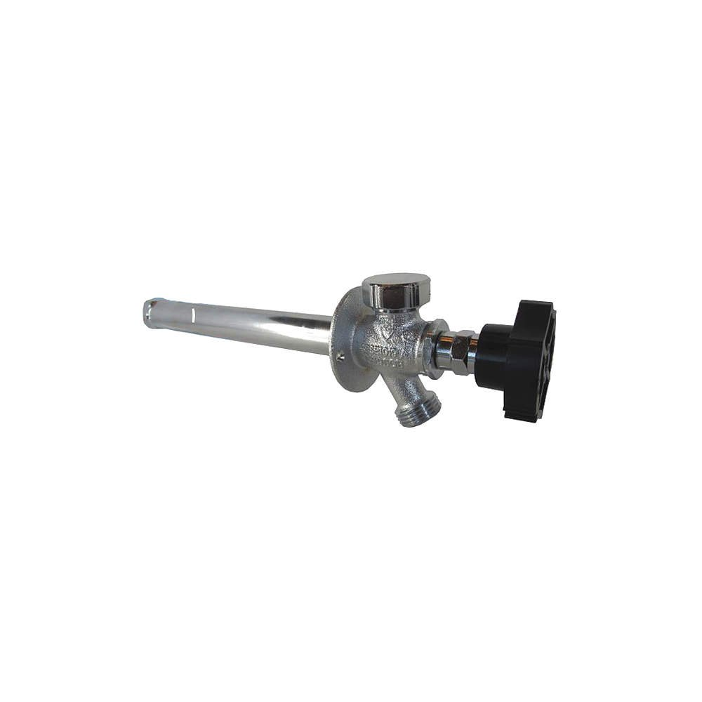 ¼-Turn Ball Valve Frost Proof Sillcock; 10'' wall thickness; PEX - ½'' inlet connection; Quarter Ball QB-110PX5