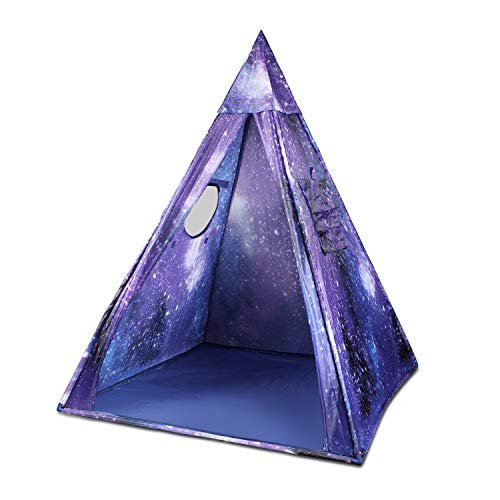 (Kids Indian Teepee Play Tent for Boys and Girls , Galaxy Playhouse Princess Castle for Toddler Outdoor and Indoor Fun Plays (A))