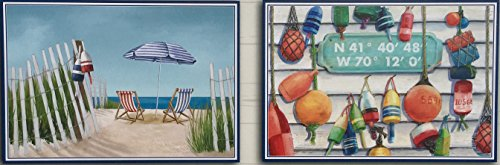 Beach life 2 Assorted Deigns 48 Disposable Paper Placemat's by Nantucket Home