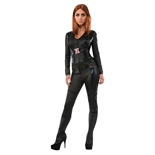 Marvel Secret Wishes Women's Universe, Captain America: The Winter Soldier, Deluxe Black Widow Costume, Multicolor, (Black Widow Costumes For Sale)