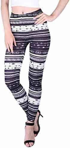 eeb1143538ad4 HDE Women's Plus Size Leggings Ultra Soft Fashion Design Stretch Pants