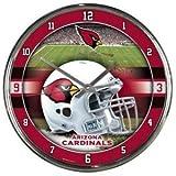 Arizona Cardinals Round Chrome Wall Clock