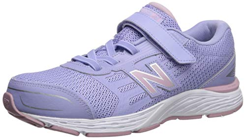 New Balance Girls' YA680CS Running Shoe, Clear Amethyst, 125W