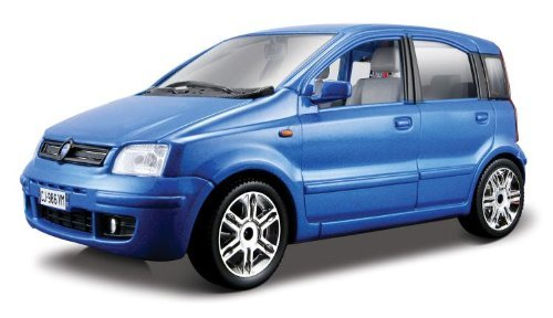Bburago 2011 Bijoux 1:24 Scale Blue Fiat Nuova Panda (2003) by Bburago