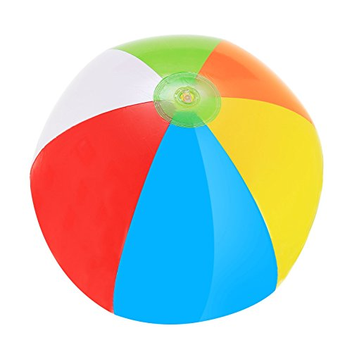 Rainbow Beach Balls - Pack Of 4 Inflatable Beach Ball (Large Inflatable Beach Ball)